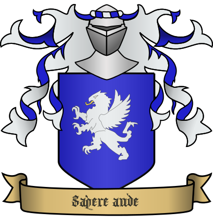 Solberg Coat of Arms - Sapere aude (Dare to know)